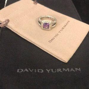 David Yurman petite Albion amethyst ring size 6